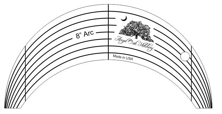 8 Inch Arc Rulerwork Quilting Template 8