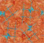 Batik Textiles Galactica Orange/Bright Aqua