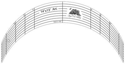 14 inch x13 inch Arc Rulerwork Quilting Template