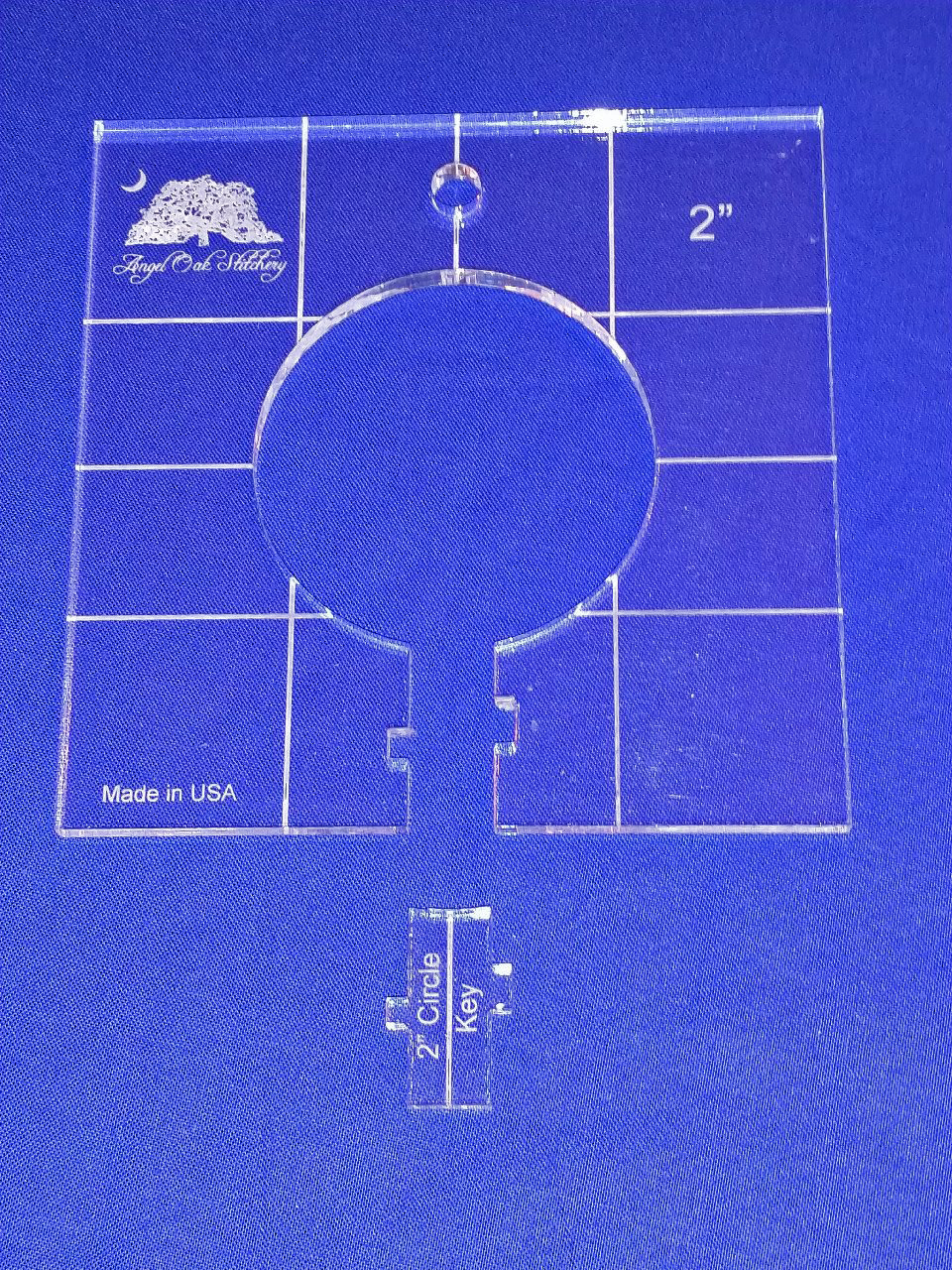 2 inch Circle Low Shank Rulerwork Quilting Template