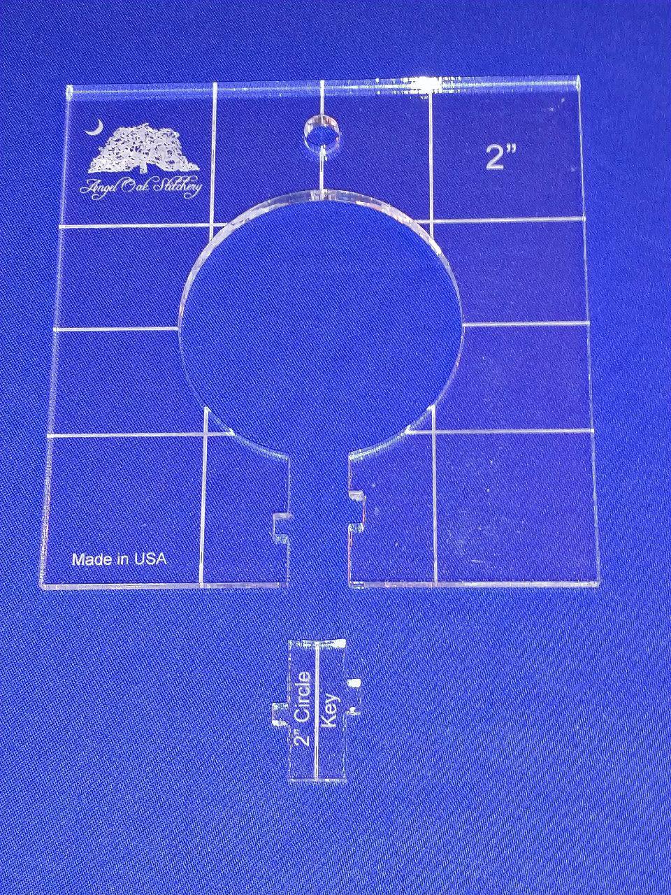 2 inch Circle Rulerwork Quilting Template