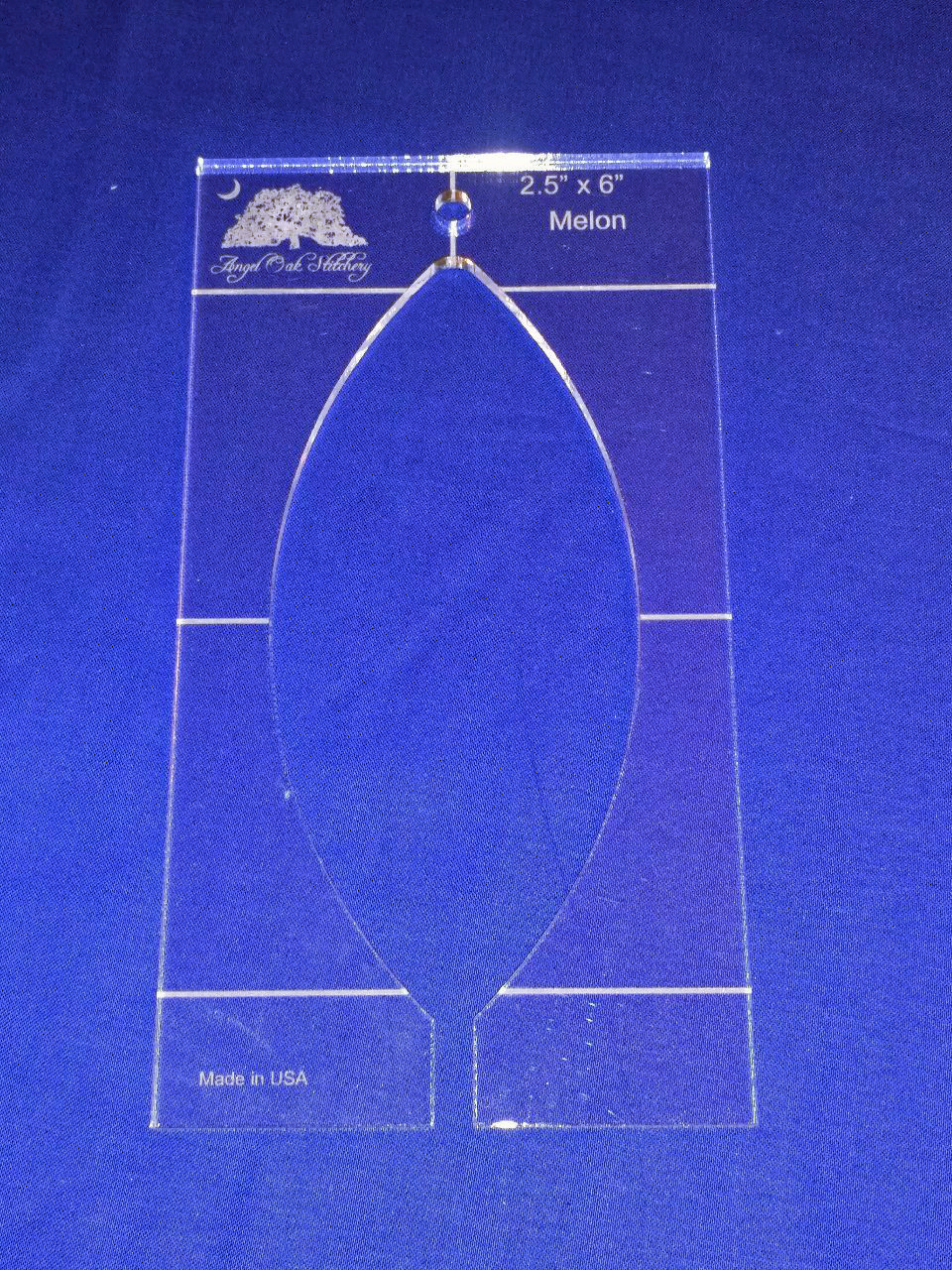 2-1/2 inch x 6 inch Melon Rulerwork Quilting Template