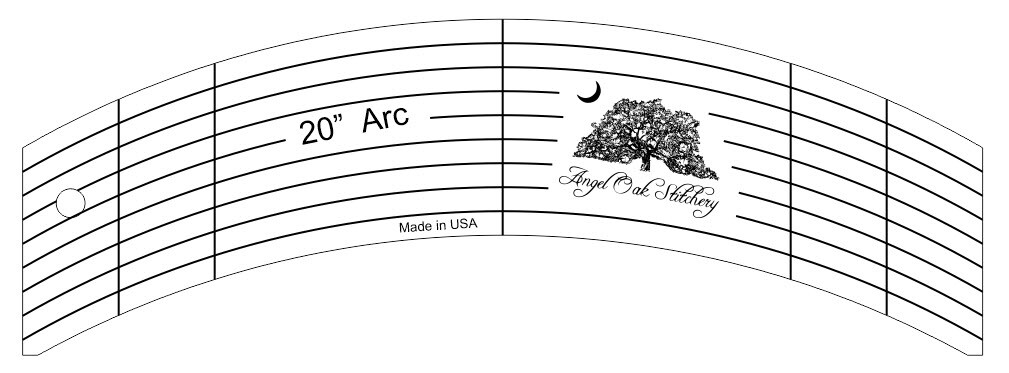 20 Inch Arc Low Shank Rulerwork Quilting Template