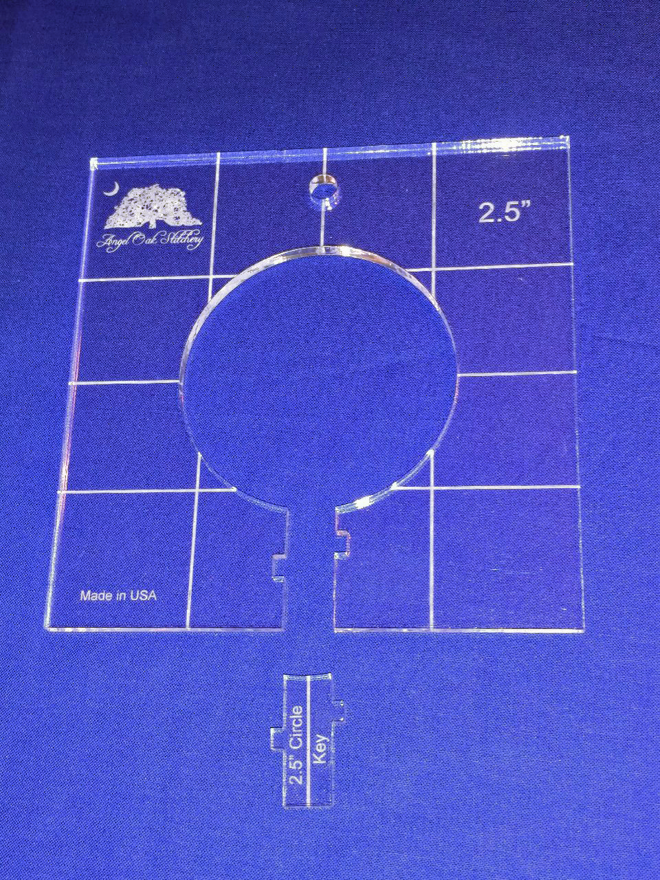 2-1/2 inch Circle Low Shank Rulerwork Quilting Template
