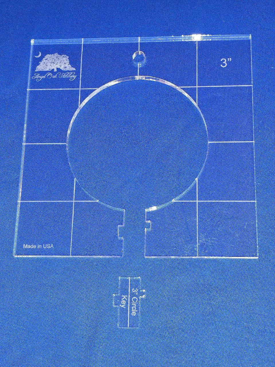 3 inch Circle Rulerwork Quilting Template