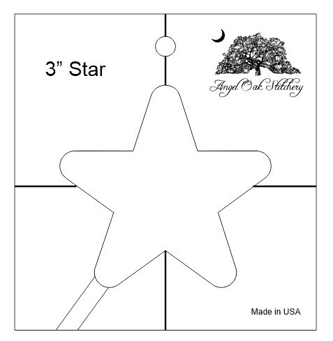 3 inch Star Low Shank Rulerwork Quilting Template