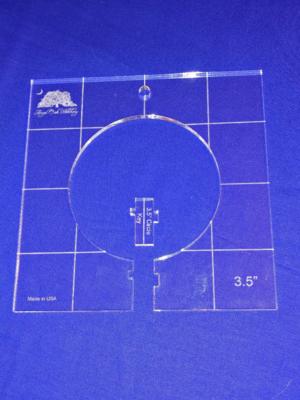 3-1/2 inch Circle Rulerwork Quilting Template