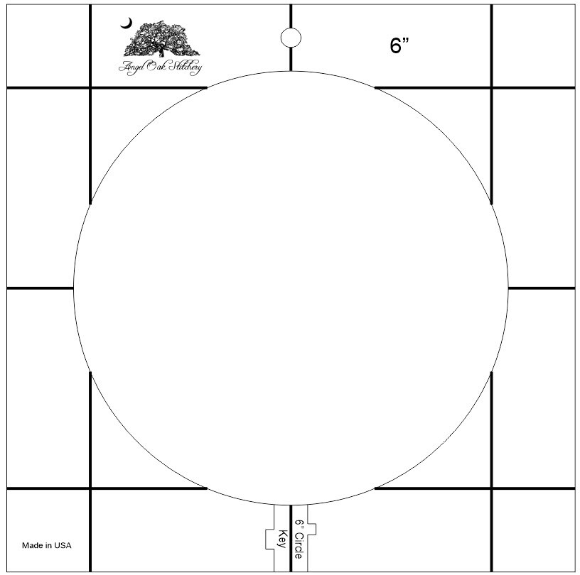 6 inch Circle Low Shank Rulerwork Quilting Template