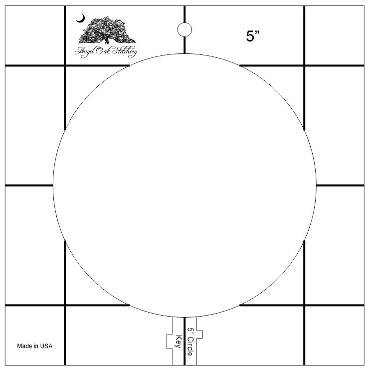 5 inch Circle Low Shank Rulerwork Quilting Template