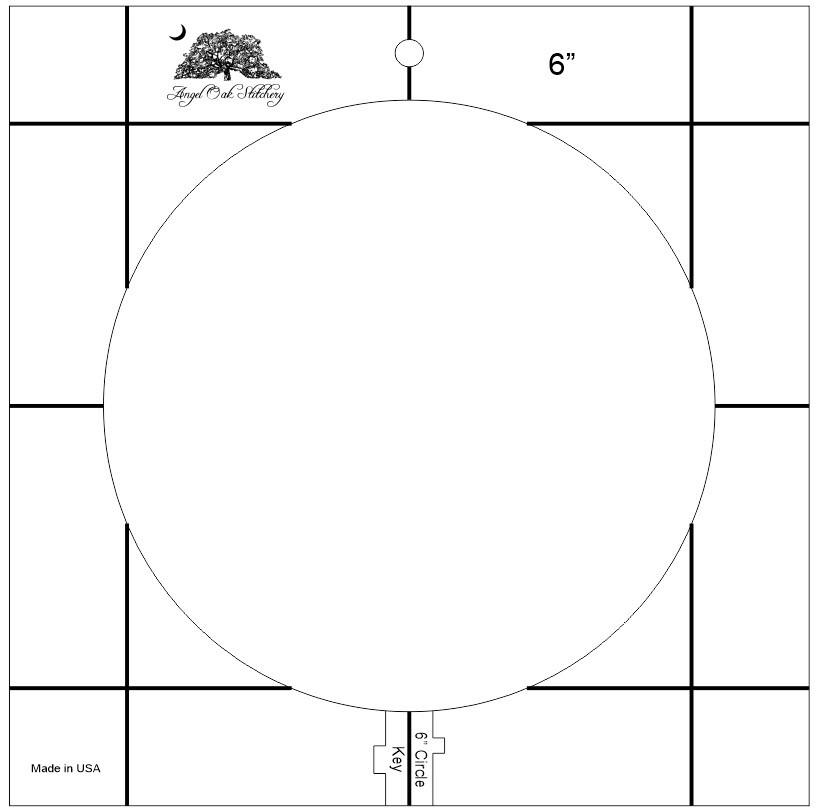 6 inch Circle Rulerwork Quilting Template