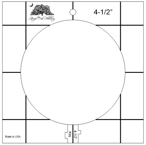 4-1/2 Inch Circle Low Shank Rulerwork Quilting Template