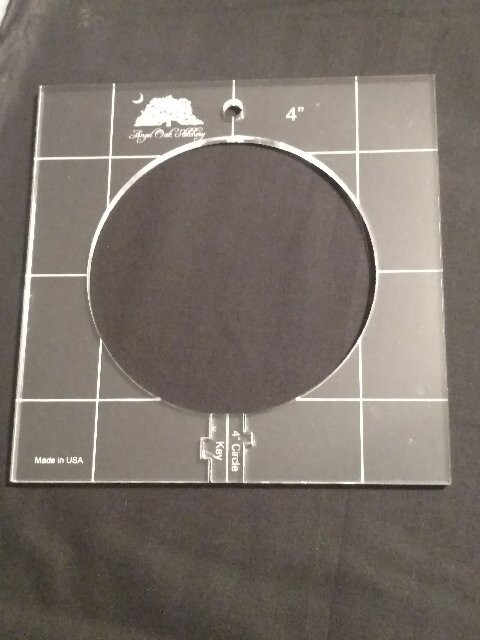 4 Inch Circle Low Shank Rulerwork Quilting Template