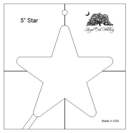 5 Inch Star Rulerwork Quilting Template