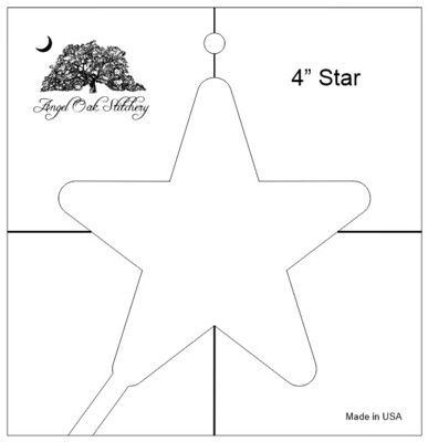 4 inch Star Low Shank Rulerwork Quilting Template