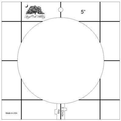 5 inch Circle Rulerwork Quilting Template