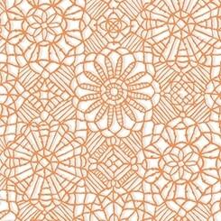 QT Fabrics Amazing Lace Orange Melon White 24632-ZO