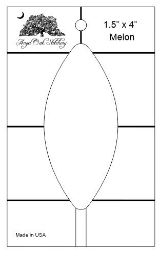 1-1/2 inch x 4 inch Melon Low Shank Rulerwork Quilting Template