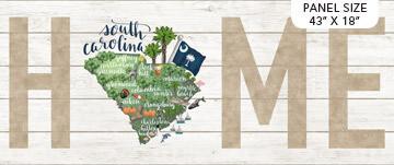 Northcott My Home State Panel - South Carolina DP23169