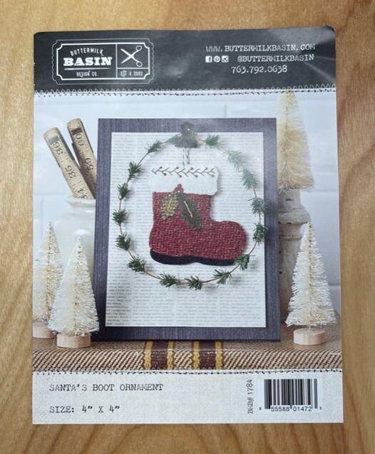 Santa's Boot Wool Ornament Class