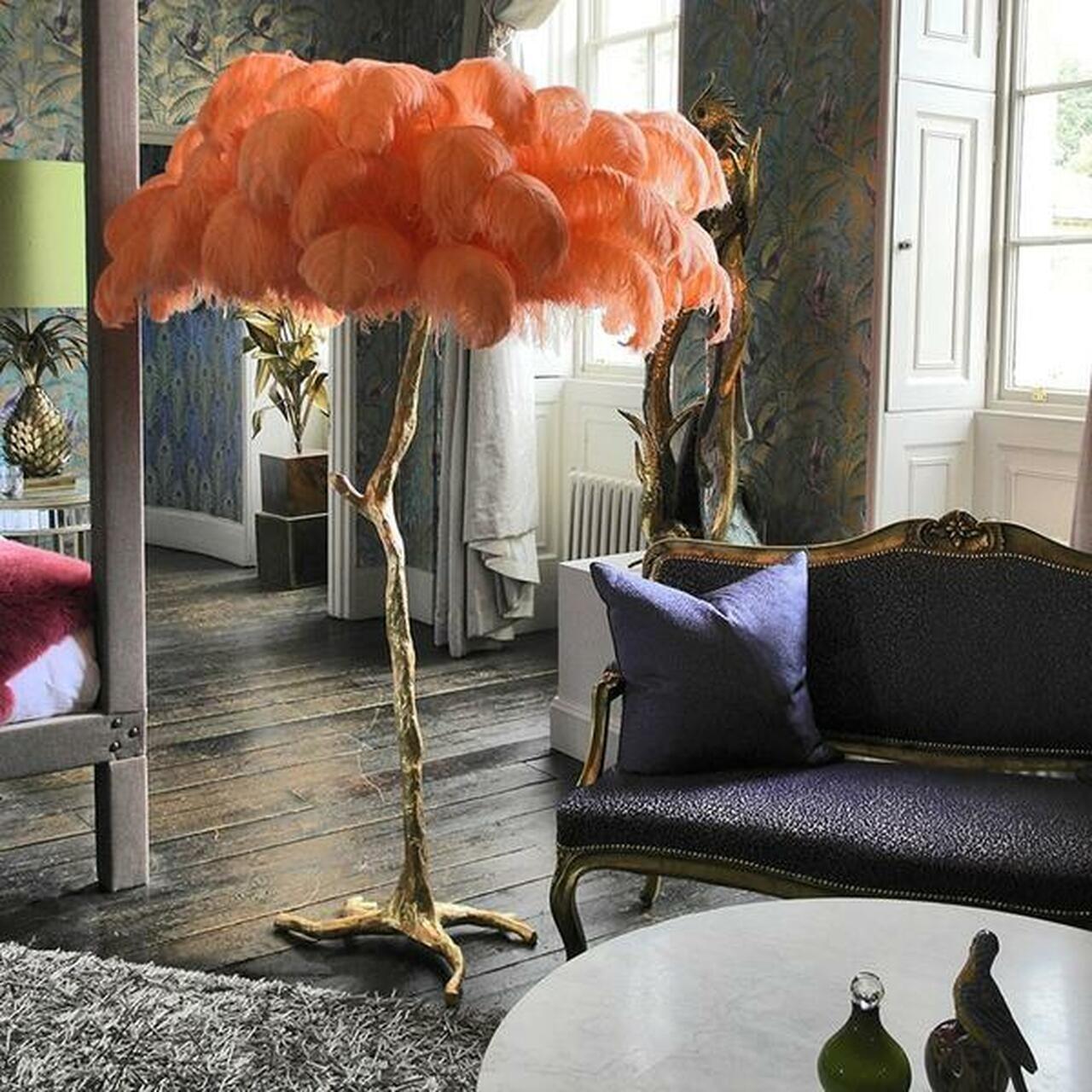 Palmera Luxury Feather Floor/Table Lamp