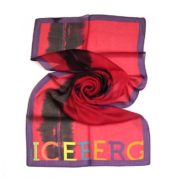 Шарф женский шёлковый Iceberg