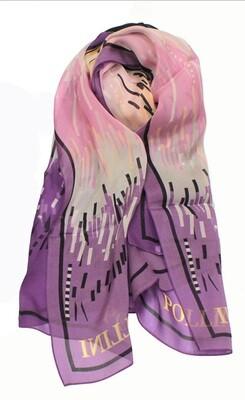 Шарф женский шёлковый Pollini