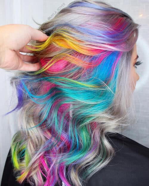 Multi colored hair