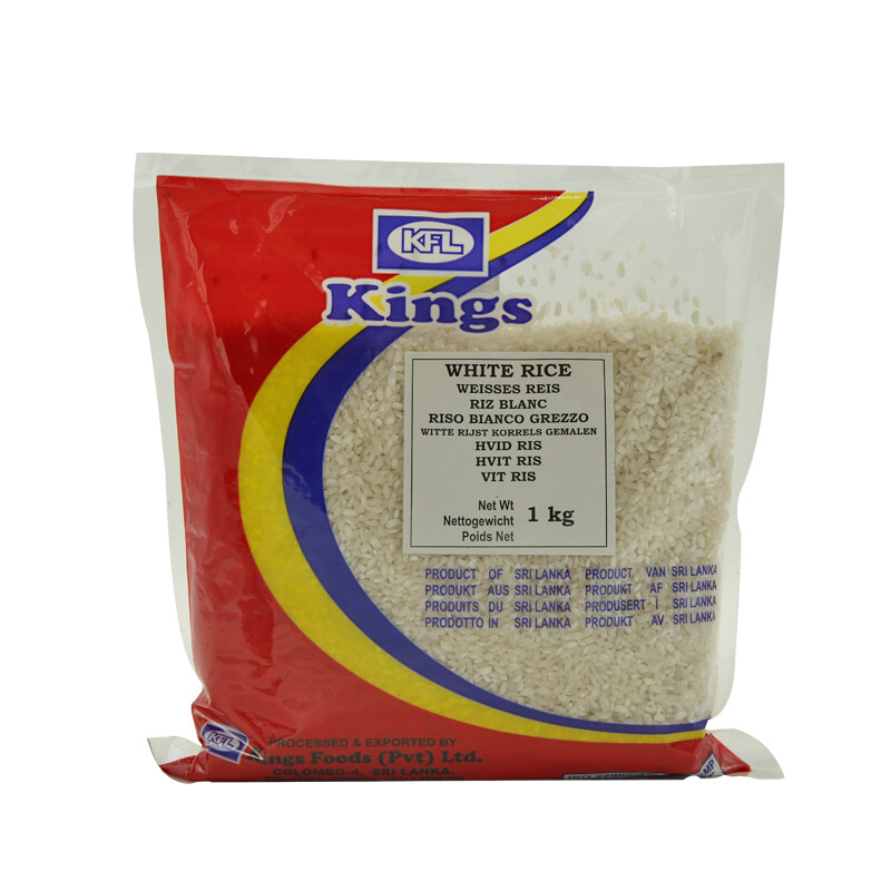 Kings White Rice 20 x 1 kg