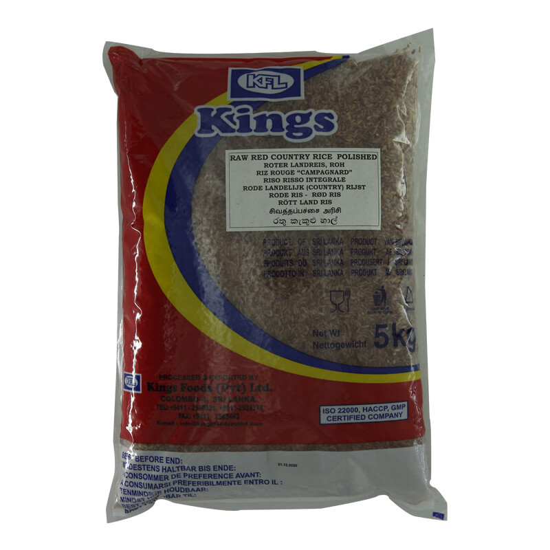 Kings Red Raw Rice 4 x 5 kg