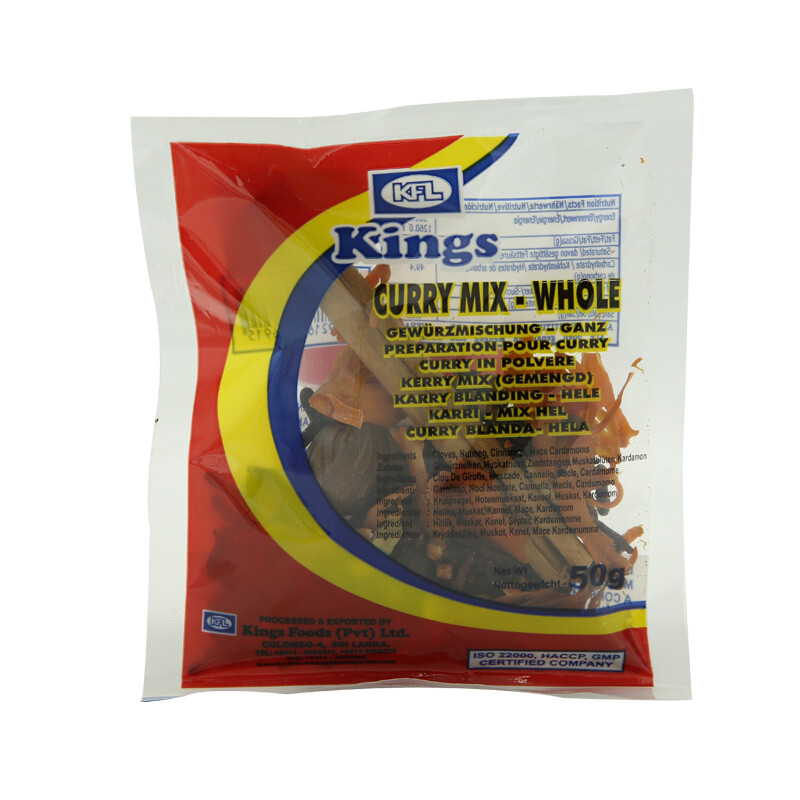 Kings Curry Mixed Whole 100 x 50 g