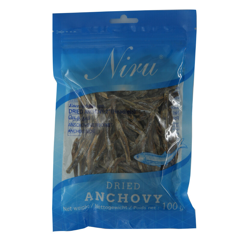 Niru Anchovy W/O Head 25 x 100 g