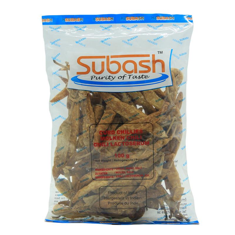 Subash White Chillies 100 x 100 g