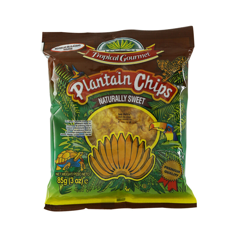 Tropical Gourmet Plantain Chips Sweet 20 x 85 g