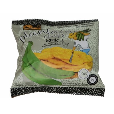 Samai Plantain Chips Garlig 30 x 75 g