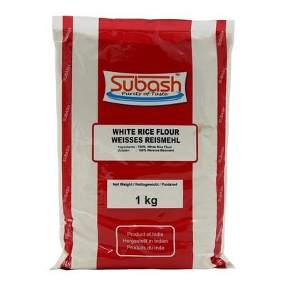 Subash White Rice Flour 20 x 1 kg