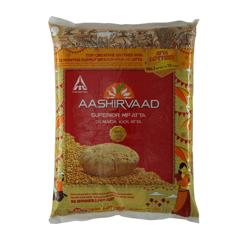 Ashirwad Atta Flour 4 x 5 kg