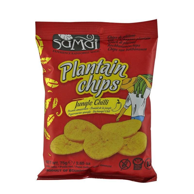 Samai Plantain Chips Jungle Chilli 30 x 75 g