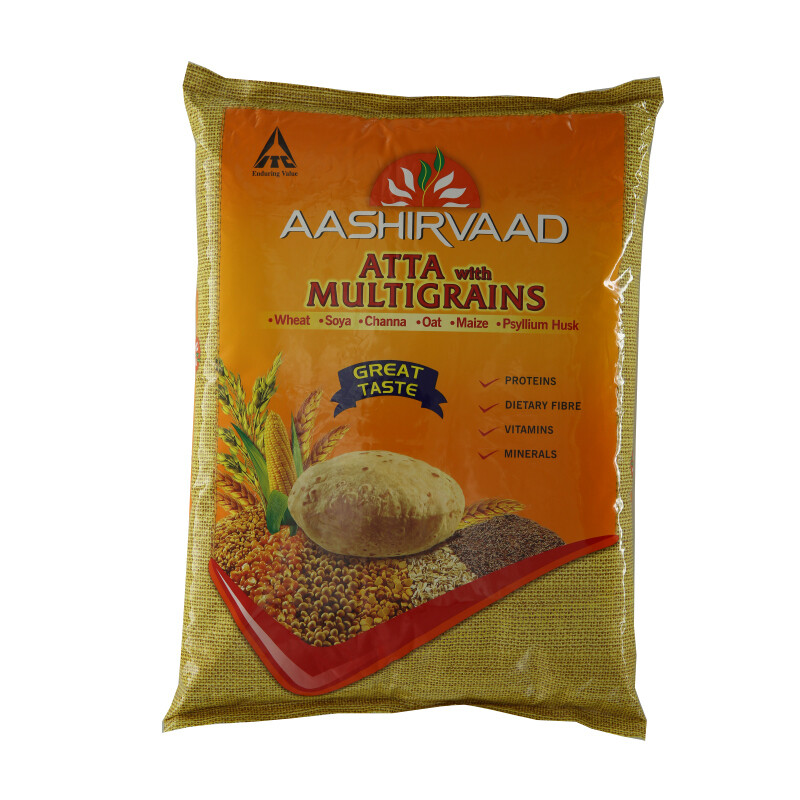 Ashirwad Atta Flour Multigrains 4 x 5 kg