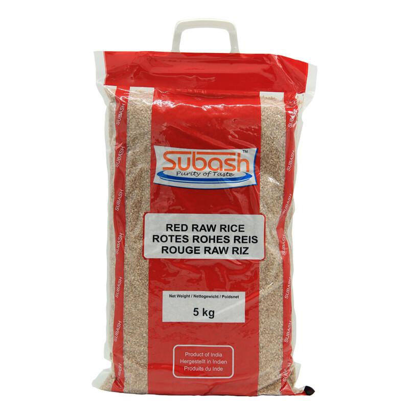 Subash Red Raw Rice 4 x 5 kg