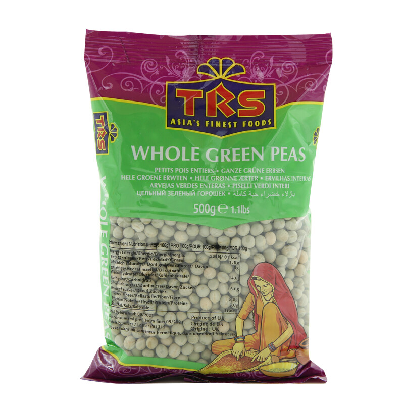 TRS Whole Peas Green 6 x 2 kg