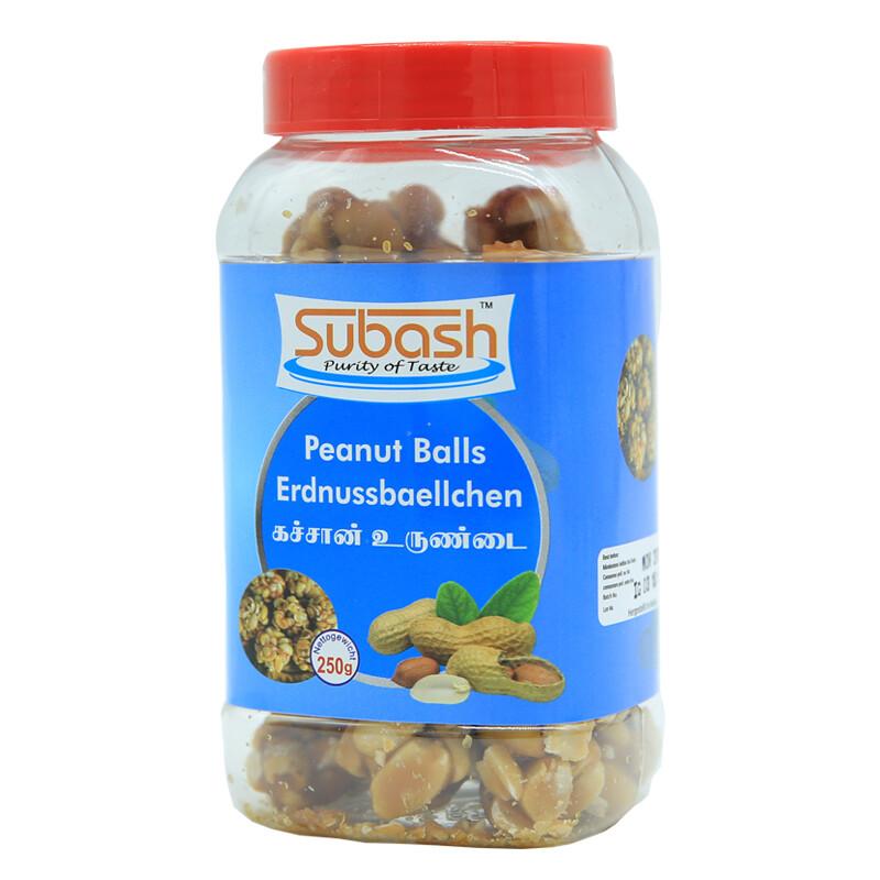 Subash Peanut Balls Bottle 24 x 250 g