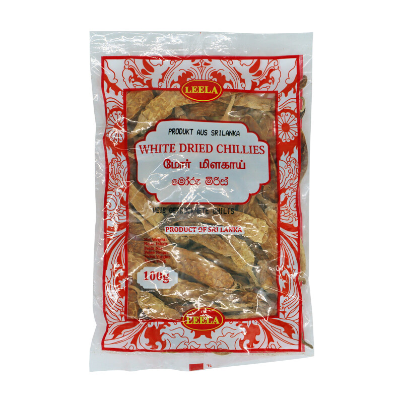 Leela White Dried Chillies 100 x 100 g