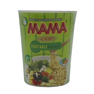 Mama Instant Cup Noodles Vegetable 16 x 70 g