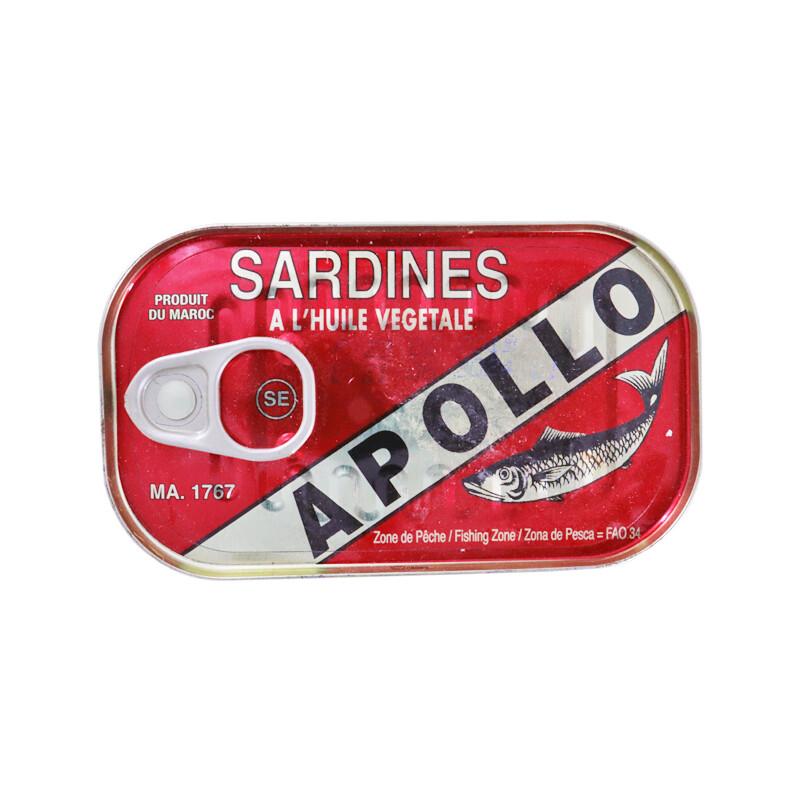 Apollo Sardines In Oil 50 x 125g