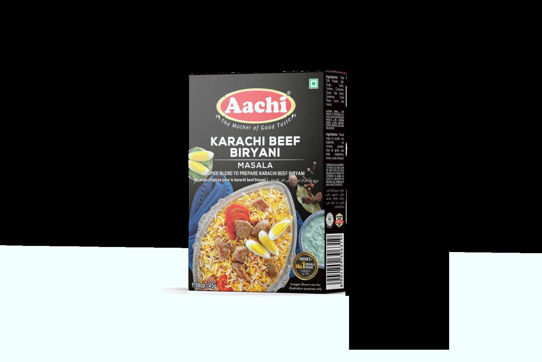 Aachi Karachi Beef Biryani Masala 12 x 45 g