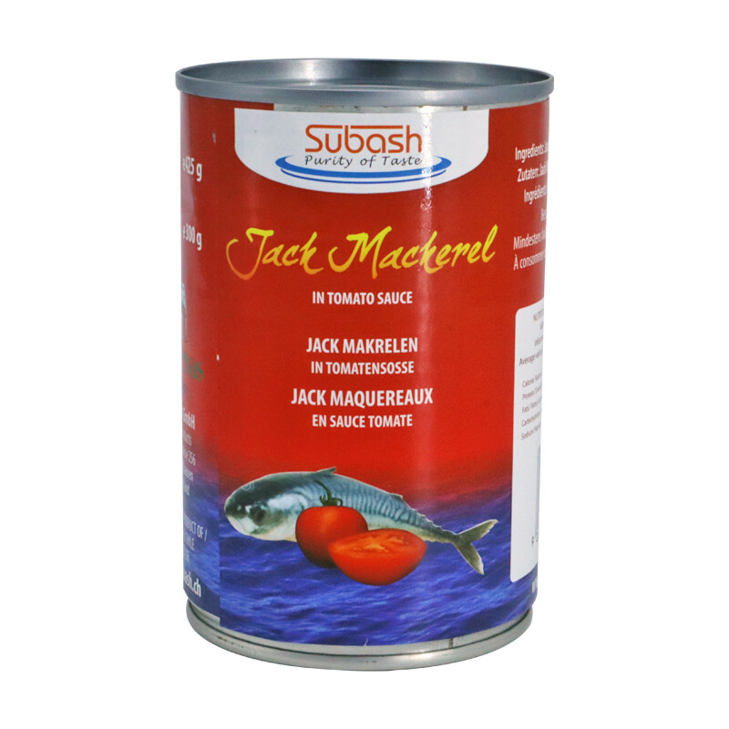 Subash Jack Mackerel Chilli Tomato 24 x 425 g