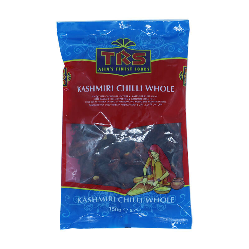 TRS Kashmiri Chillies Whole 8 x 150 g