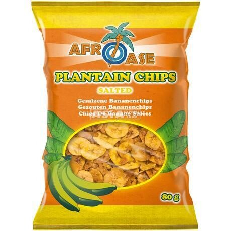 Afroase Plantain Chips Salted 20 x 80 g