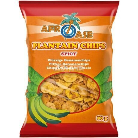 Afroase Plantain Chips Spicy 20 x 80 g