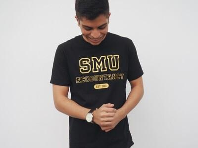 Black & Gold Cotton T-Shirt